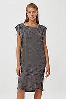 Платье из вискозы с геометричным принтом Finn Flare, цвет черный, размер 3XL
