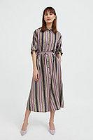 Платье-рубашка в яркую полоску Finn Flare, цвет светло-коричневый, размер S