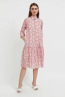 Свободное платье с цветочным принтом Finn Flare, цвет пепельно-розовый, размер 2XL