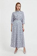 Принтованная юбка с запахом Finn Flare, цвет светло-голубой, размер M/L