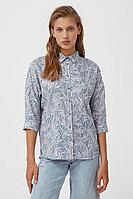 Рубашка с растительным орнаментом Finn Flare, цвет светло-голубой, размер XL