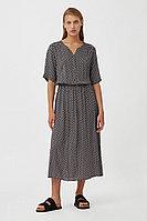 Платье-миди с принтом Finn Flare, цвет черный, размер XS