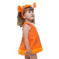 Карнавальный костюм 'Бельчонок', ободок с ушками, платье, 1-2 года, рост 92 см