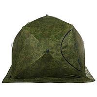 Палатка зимняя «СТЭК» КУБ 4-местная, трёхслойная, цвет камуфляж ДМ