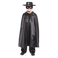Карнавальный костюм 'Зорро', шляпа, маска, плащ, длина 80 см