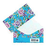 Конверт для денег 'Универсальный' цветы, голубой фон (комплект из 5 шт.)