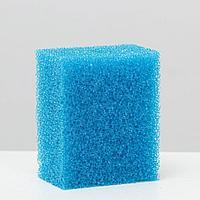Губка прямоугольная для фильтра, синяя №6, 8х5х10 см