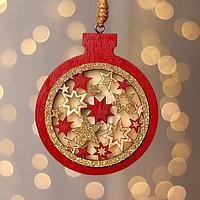 Новогодний декор с подсветкой 'Ёлочный шар' 10x26 см
