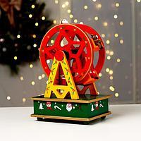Новогодний сувенир 'Колесо обозрения' 14x10x21 см