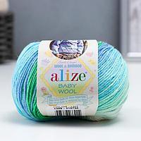 Пряжа 'Baby Wool Batik' 40 шерсть, 40 акрил, 20 бамбук 175м/50гр (4389)