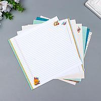 Набор бумаги для скрапбукинга 'Садись, пять.' 190 г/кв.м 20 x 20 см 7л