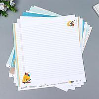 Набор бумаги для скрапбукинга 'Садись, пять.' 190 г/кв.м 30.5 x 30.5 см 7 л