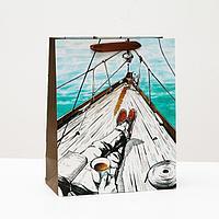 Пакет подарочный 'Капитан', 26 х 32 х 12 см (комплект из 6 шт.)