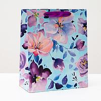 Пакет подарочный 'Акварельные цветы', 26 х 32 х 12 см (комплект из 6 шт.)