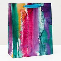 Пакет подарочный 'Акварельный штрих', 26 х 32 х 12 см (комплект из 6 шт.)