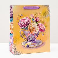 Пакет подарочный 'Яркие цветы', 26 х 32 х 12 см (комплект из 6 шт.)