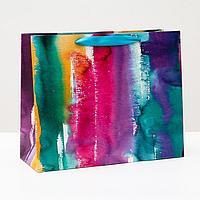 Пакет подарочный 'Акварельный штрих', 32 х 26 х 12 см (комплект из 6 шт.)