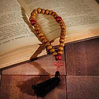 Чётки деревянные 'Православные' с крестиком, кисть, 30 бусин, цвет светло-коричневый (комплект из 2 шт.)