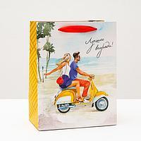 Пакет подарочный 'Лучшее впереди', 18 х 22,3 х 10 см (комплект из 6 шт.)