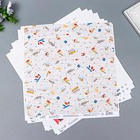 Бумага для скрапбукинга 'Садись, пять.' 190 г/кв.м 30.5 x 30.5 см 10 шт 3 (комплект из 10 шт.)