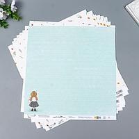 Бумага для скрапбукинга 'Садись, пять.'190 г/кв.м 30.5 x 30.5 см 10 шт 5 (комплект из 10 шт.)