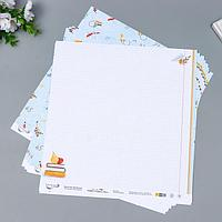 Бумага для скрапбукинга 'Садись, пять.' 190 г/кв.м 30.5 x 30.5 см 10 шт 2 (комплект из 10 шт.)