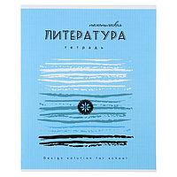Тетрадь предметная 'Арт', 40 листов в линейку 'Литература' со справочным материалом, обложка мелованный