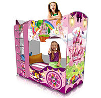 """Детская кровать двухъярусная """"Принцесса"""" розовая"""