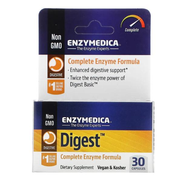 Enzymedica, Digest, комплексная ферментная формула, 30 капсул