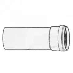Труба дымовая 1000 мм, DN250 мм с муфтой и уплотнением, для GB162