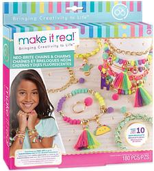 Набор для творчества Make It Real набор для создания украшений Neo-Brite Chains & Charm/ кольца и браслеты