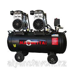 Magnetta, BW1500H2-80, Компрессор воздушный безмасляный, 80 л, 2x1500Вт, 560л/мин, 8бар