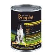 Bonplat meat assorted from turkey индейка с рисом, влажный корм для собак всех пород