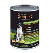 Bonplat quality vegetable rague with meat мясо с овощами, влажный корм для собак всех пород