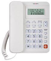 Texet Телефон проводной Texet TX-250 белый
