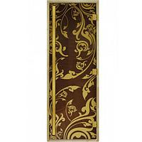 Стеклянная дверь для бани «Luxury» (Золотая Венеция, бронза 190*70 мм)
