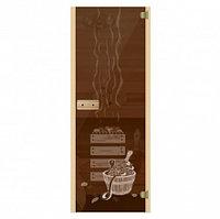 Стеклянная дверь для бани и сауны «Банька»