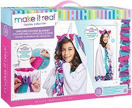 Набор для творчества Make It Real Накидка Единорог  Unicorn Hoodie Blanket пончо