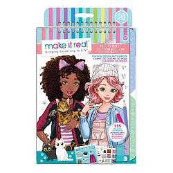 Набор для творчества Make It Real Скэтчбук Fashion Design Sketchbook: Pretty Kitty