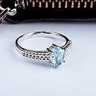 """Кольцо Teosa серебро с родием, топаз, , """"каратник"""" R-DRGR00819-T размеры - 17,5, фото 2"""