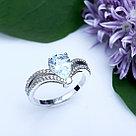 "Кольцо Teosa серебро с родием, топаз фианит, , ""halo"" R-DRGR00745-T размеры - 16 17, фото 2"