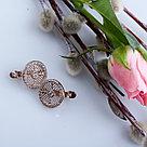 Серьги Красная Пресня серебро с позолотой, фианит, круг 3388857, фото 2