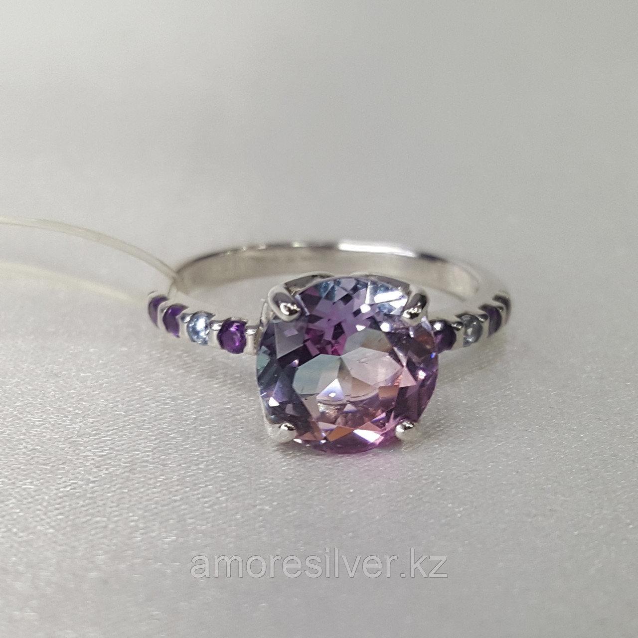 Кольцо SOKOLOV серебро с родием, ситал синт. фианит , многокаменка 92011717 размеры - 18,5 - фото 8
