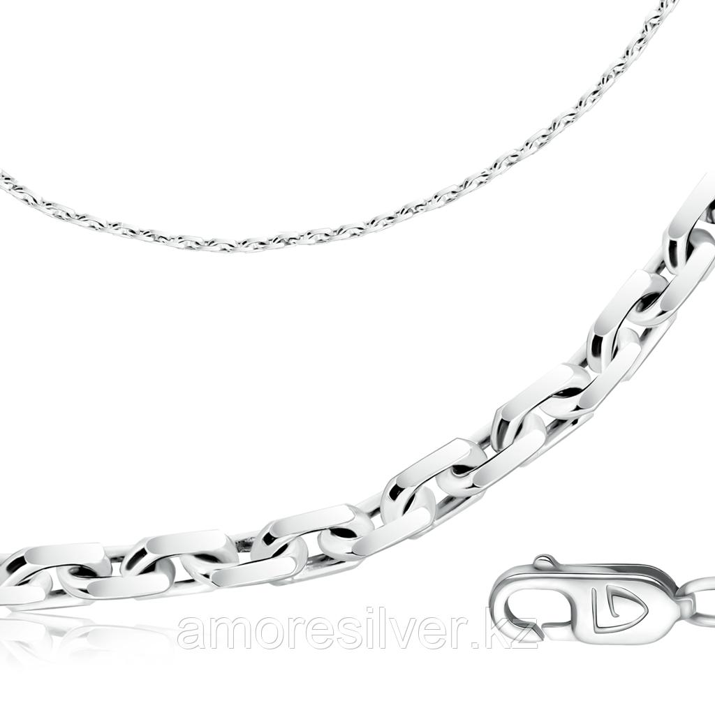 Цепь  серебро с родием, без вставок 81100141470 размеры - 70