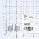 """Серьги TEOSA серебро с родием, фианит синт., с английским замком, """"halo"""" 200-038, фото 2"""