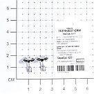 Серьги TEOSA серебро с родием, фианит, винтовой замок, круг 10219-0037-CRM, фото 2