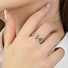 Кольцо TEOSA серебро с родием, без вставок, фантазия К600-1090 размеры - 17,5, фото 3