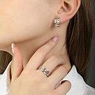 Кольцо TEOSA серебро с родием, без вставок, фантазия К600-1090 размеры - 17,5, фото 4