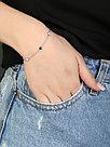 Браслет Адамант серебро с родием, эмаль Ср925Р-8К1303016Э8 размеры - 16, фото 3