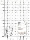 "Серьги TEOSA серебро с родием, фианит синт., с английским замком, ""каратник"" 10220-564-IRCZ, фото 2"